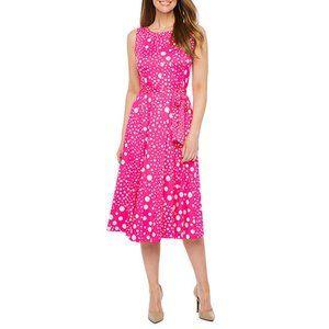 NWT Perceptions Sleeveless Dots Fit & Flare Dress